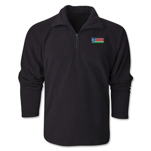 South Sudan Flag 1/4 Fleece Pullover