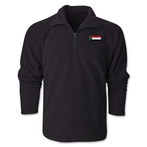 Sudan Flag 1/4 Fleece Pullover