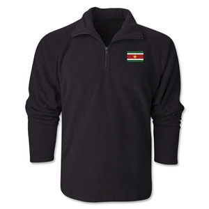 Suriname Flag 1/4 Fleece Pullover