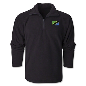 Tanzania Flag 1/4 Fleece Pullover