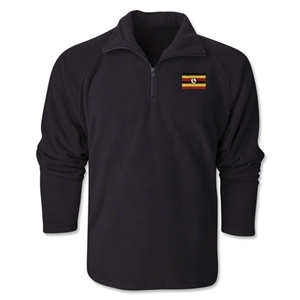 Uganda Flag 1/4 Fleece Pullover