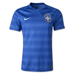 Brazil 2014 Authentic Away Soccer Jersey