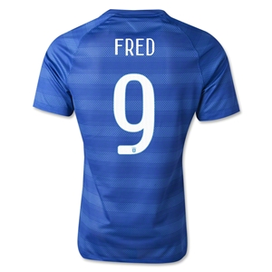 Brazil 2014 FRED Authentic Away Soccer Jersey