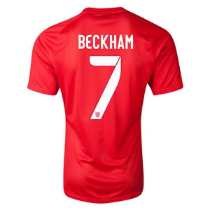 England 2014 BECKHAM Authentic Away Soccer Jersey