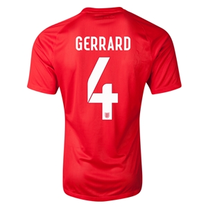 England 2014 GERRARD Authentic Away Soccer Jersey