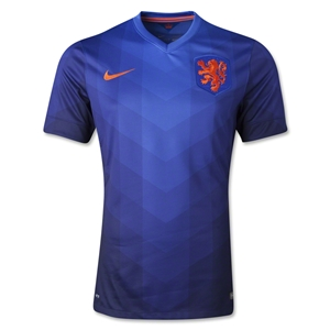 Netherlands 2014 Authentic Away Soccer Jersey