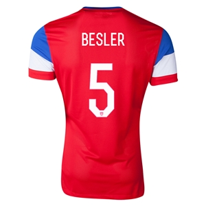 USA 2014 BESLER Authentic Away Soccer Jersey