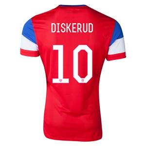 USA 2014 DISKERUD Authentic Away Soccer Jersey