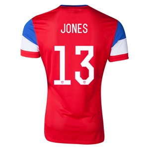 USA 2014 JONES Authentic Away Soccer Jersey