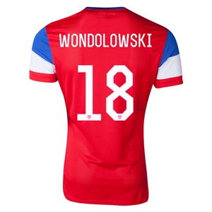 USA 2014 WONDOLOWSKI Authentic Away Soccer Jersey