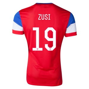 USA 2014 ZUSI Authentic Away Soccer Jersey