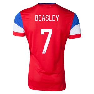 USA 14/15 BEASLEY Away Soccer Jersey
