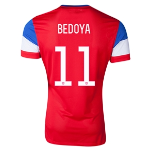 USA 2014 BEDOYA Away Soccer Jersey