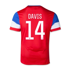 USA 2014 DAVIS Youth Away Soccer Jersey