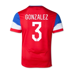 USA 14/15 GONZALEZ Youth Away Soccer Jersey