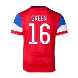 USA 2014 GREEN Youth Away Soccer Jersey