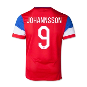 USA 2014 JOHANNSSON Youth Away Soccer Jersey
