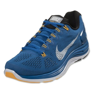 Nike Lunarglide+ 5 Men's Running Shoe (military blue/black/atomic mango/white)