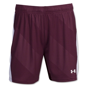 Under Armour Women's Fixture Short (Maroon/Wht)