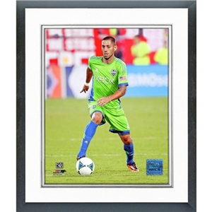 Seattle Sounders Clint Dempsey Action Shot Double Matted Framed 8 x 10