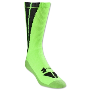 Under Armour Ignite Bolt Crew Sock (Neon Green)