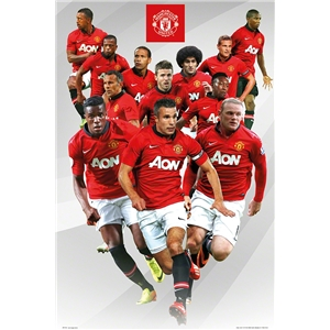 Manchester United 13/14 Players Poster