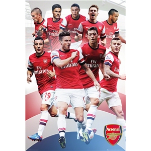 Arsenal 13/14 Players Poster