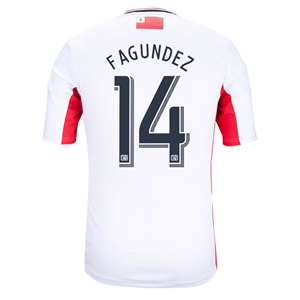 New England Revolution 2014 FAGUNDEZ Secondary Soccer Jersey
