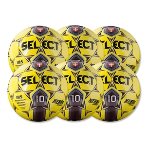 Select Numero 10 Game Ball 6 Pack (Yellow)