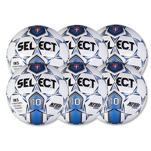 Select Numero 10 Game Ball 6 Pack (White/Royal)