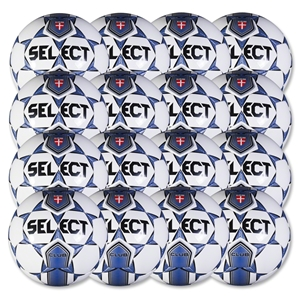 Select Club Training Ball 16 Pack (White/Navy)