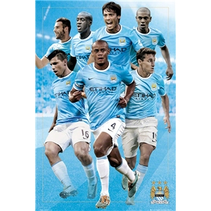 Manchester City 13/14 Players Poster
