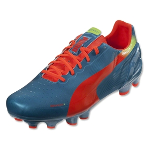 PUMA evoSPEED 3.2 FG (Sharks Blue/Fluo Peach/Fluo Yellow)