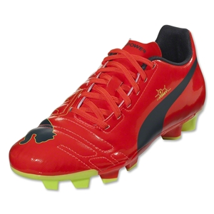 Puma evoPower 4 FG Junior (Fluo Peach/Ombre Blue)