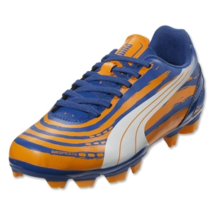 PUMA evoSPEED 5.2 FG Junior (Monaco Blue/Sulphur Springs/Bright Marigold)