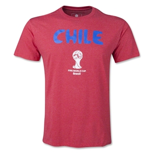 Chile 2014 FIFA World Cup T-Shirt (Heather Red)
