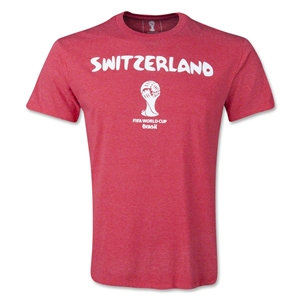 Switzerland 2014 FIFA World Cup T-Shirt (Heather Red)