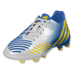 adidas Predator Absolion LZ TRX FG Junior (White/Prime Blue/Vivid Yellow)