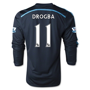 Chelsea 14/15 LS 11 DROGBA Third Soccer Jersey