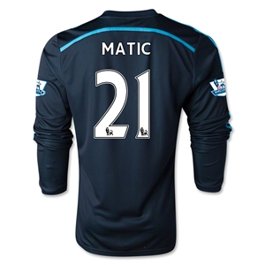 Chelsea 14/15 LS 21 MATIC Third Soccer Jersey