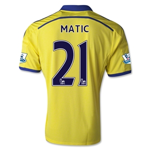 Chelsea 14/15 21 MATIC Away Soccer Jersey