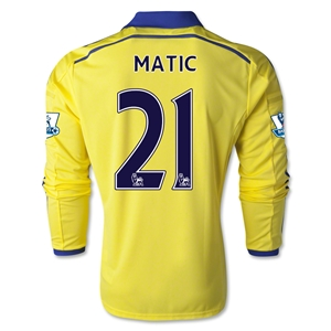 Chelsea 14/15 LS 21 MATIC Away Soccer Jersey