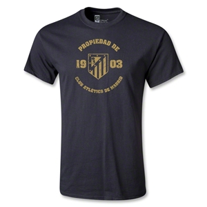 Atletico Madrid Distressed Property T-Shirt (Black)