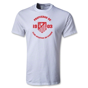 Atletico Madrid Distressed T-Shirt (White)