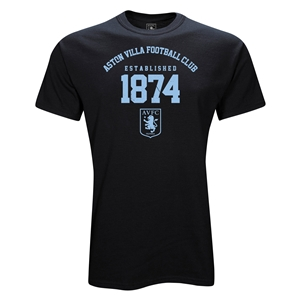 Aston Villa 1874 T-Shirt (Black)