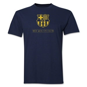 Barcelona Mes Que Un Club T-Shirt (Navy)