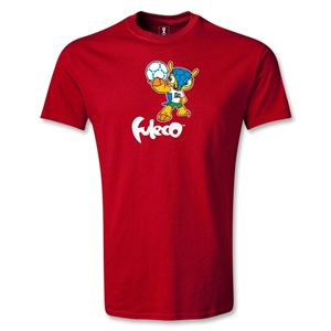 2014 FIFA World Cup Brazil(TM) Mascot Dribbling T-Shirt (Red)
