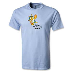 2014 FIFA World Cup Brazil(TM) Mascot Celebrating T-Shirt (Sky)