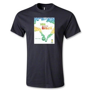 2014 FIFA World Cup Brazil(TM) Official Event Poster T-Shirt (Black)