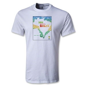 2014 FIFA World Cup Brazil(TM) Official Event Poster T-Shirt (White)